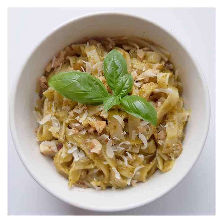 The best Pesto and Walnut Tagliatelle